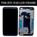 100% testado para htc e9s e9sw display lcd com tela de toque digitador assembléia + substituição do quadro peças frete grátis