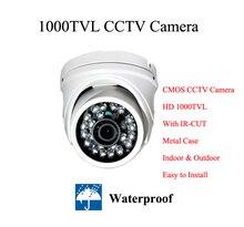 HD 1000TVL Цвет CMOS Видеокамера с ИК-Цифровая Фотокамера водонепроницаемый Купол 24 ИК-ПОДСВЕТКОЙ Камеры безопасности открытый Камеры системы ВИДЕОНАБЛЮДЕНИЯ