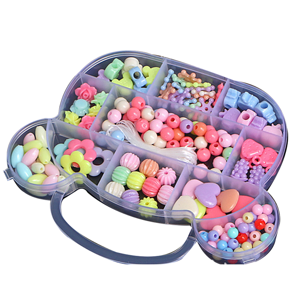 Children Beaded Toys DIY Bead Girl Baby Puzzle Hand Wear Beads Amblyopia Hyperopia Training Beads Toy