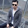2016 outono e inverno nova auto-cultivo dos homens com capuz jaqueta plus size blusas suéter grosso casaco clássico dos homens minimalistas venda quente