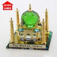 Crystal Taj Mahal Mosque Car Ornaments Desktop Ornaments Indian Building Figurine World Famous Architecture Home Office Decor
