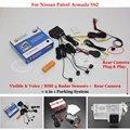 For Nissan Patrol Armada Y62 - Car Parking Sensors + Rear View Back Up Camera = 2 in 1 Visual / BIBI Alarm Parking System