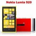 """Lumia 920 Оригинальный Разблокирована Nokia Lumia 920 8MP 4.5 """"емкостный сенсорный экран GPS GSM Фронтальная камера Wi-Fi Bluetooth"""