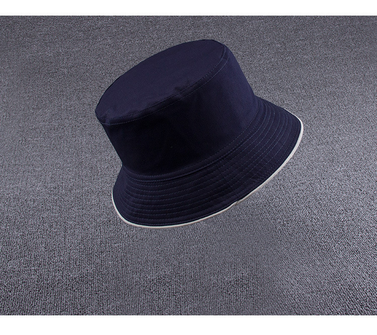 63a21fe09b8 Male Summer Two Sides Wear Fisherman Hat Woman Outdoors Sun Hat Men 100%  Cotton Plain Bucket Hats 9 Colors