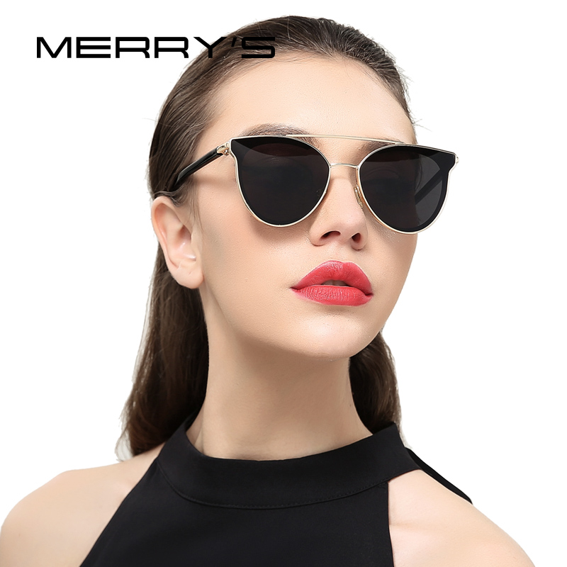 MERRYS Women Fashion Cat Eye Sunglasses Classic Brand Designer Sunglasses S8085