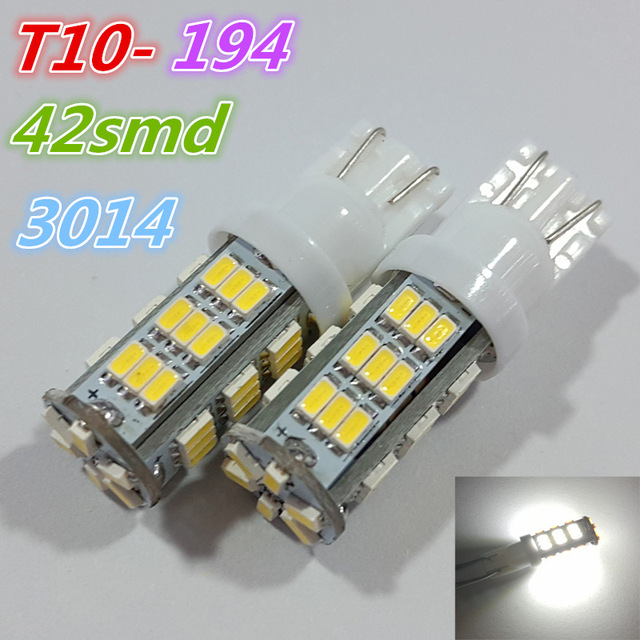 10Pcs/lot 42led T10 3014 42 Smd 194 168 192 W5W Auto Wedge...