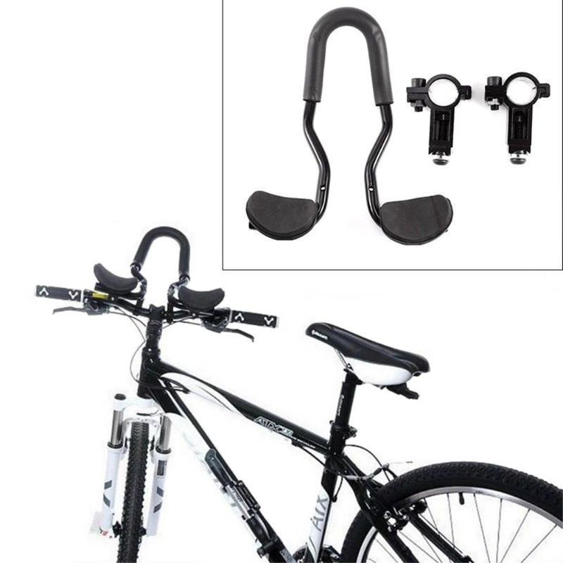 Mountain Bike Bicycle Triathlon Aero Rest Handle Bar Handlebar Clip On Tri Bars