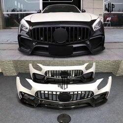 Wysokiej jakości włókno węglowe/FRP ulepszone GT GTS AMG przedni zderzak samochodowy stylizacja dla mercedes-benz GT GTS AMG zestaw do nadwozia samochodu