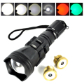 High Quality Aluminum Lanterna L2+Q5 Disassembly Beads 500 Meter Tactical Torch 5 Mode+ Green / Red Head