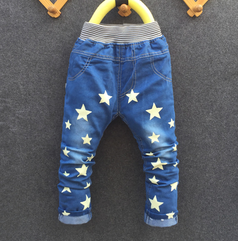High quality spring autumn new fashion baby boys jeans children denim pants kids trousers 2-3-4-5-6 years old