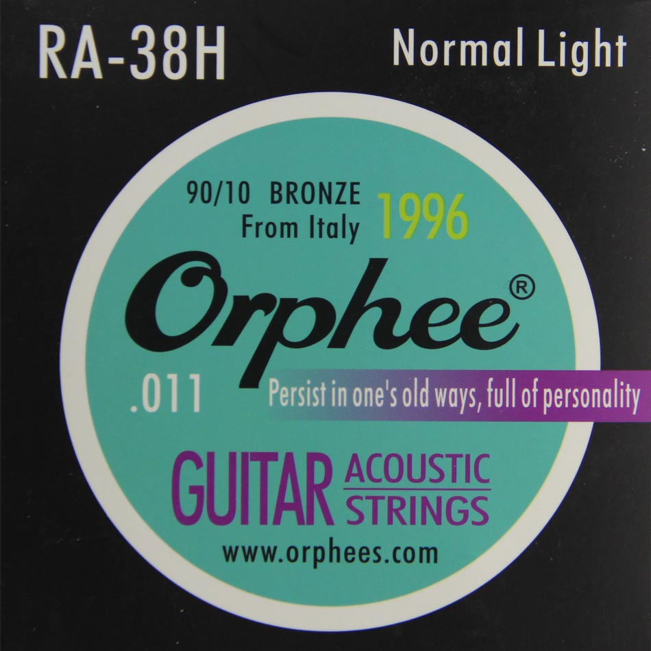цены  Orphee RA-38H acoustic guitar strings 90/10 bronze string high-quality copper alloy string  guitar lightnormal  stings  6pcs/set