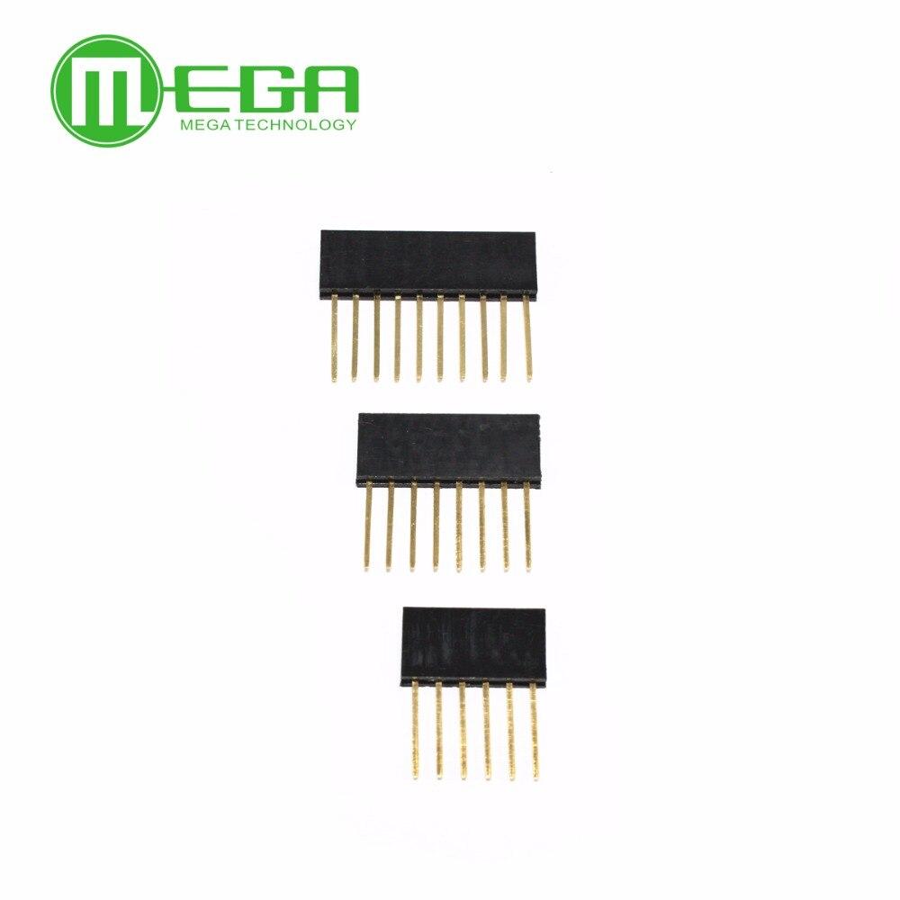 60PCS 2.54MM 6Pin 8Pin 10Pin 10MM Long Needle Female Pin Header Strip Stackable Header
