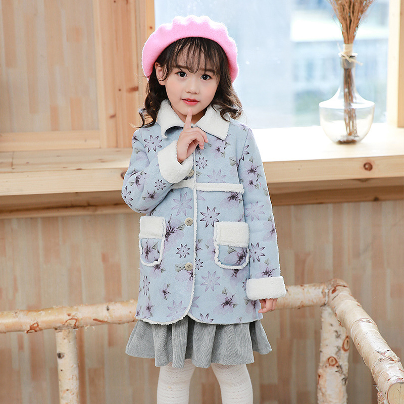 2018 New spring and autumn fashion girls casual coat children outerwear coat kids jacket children clothing uovo brand kids spring autumn new sport shoes for girls green color casual sneakers kids fashion canvas shoe zapatos eu 30 37