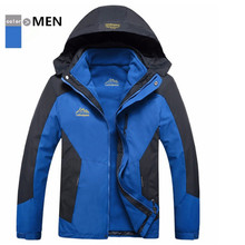 Good Value Men s Thermal Waterproof 3 layers Go Outdoor Hiking Jacket Tactical Windproof Tall Cold
