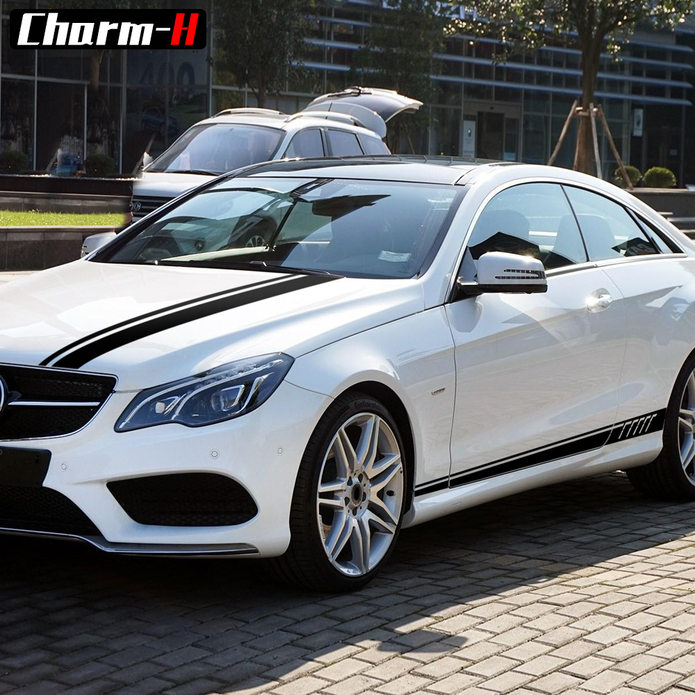 507 Style Car Hood Bonnet Roof Rear Side Skirt Vinyl Decal Sticker for Mercedes Benz E Class W212 W213 E200 E250 E300 E63 AMG in Car Stickers from Automobiles Motorcycles