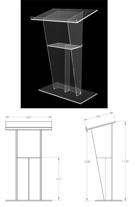 Free Shipping Organic Glass Stage The Speaker's Podium Crystal Acrylic Lectern Reception Church Platform Office Reception Desk