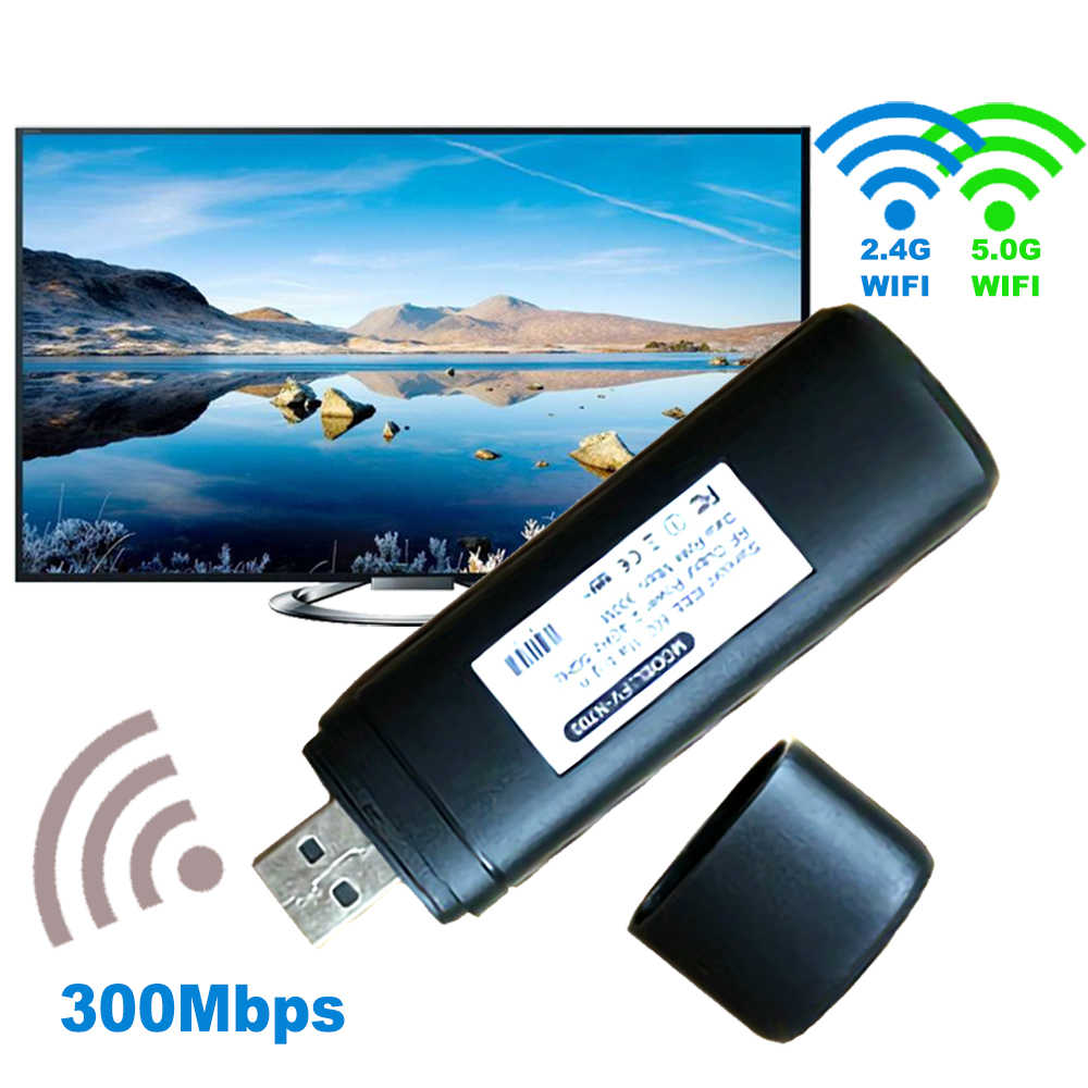 USB red Wi-Fi inalámbrica tarjeta de TV Wifi adaptador LAN Wifi Dongle receptor 2,4G 5G 5 300 M para Samsung smart TV WIS12ABGNX WIS09ABGN