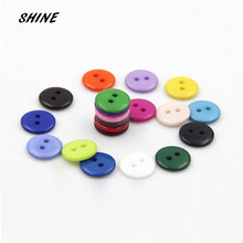 SHINE Brand 50 PCs Resin Sewing Button Scrapbooking Round Candy Color 2 Holes 12.5mm Dia. Costura Botones bottoni botoes W20005