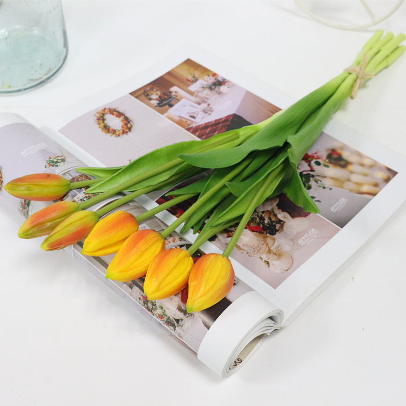 JAROWN Simulation Of Real Tactile Tulip Artificial High Quality Latex Tulip Bouquet Flores For Wedding Decoration Home Decor (14)