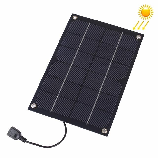 Esportes ao ar livre 6 W 5 V Painel Solar de Silício Carregador com USB Fêmea Porto de carregamento para Telefones Móveis & Digital Camera & MP3 & MP4