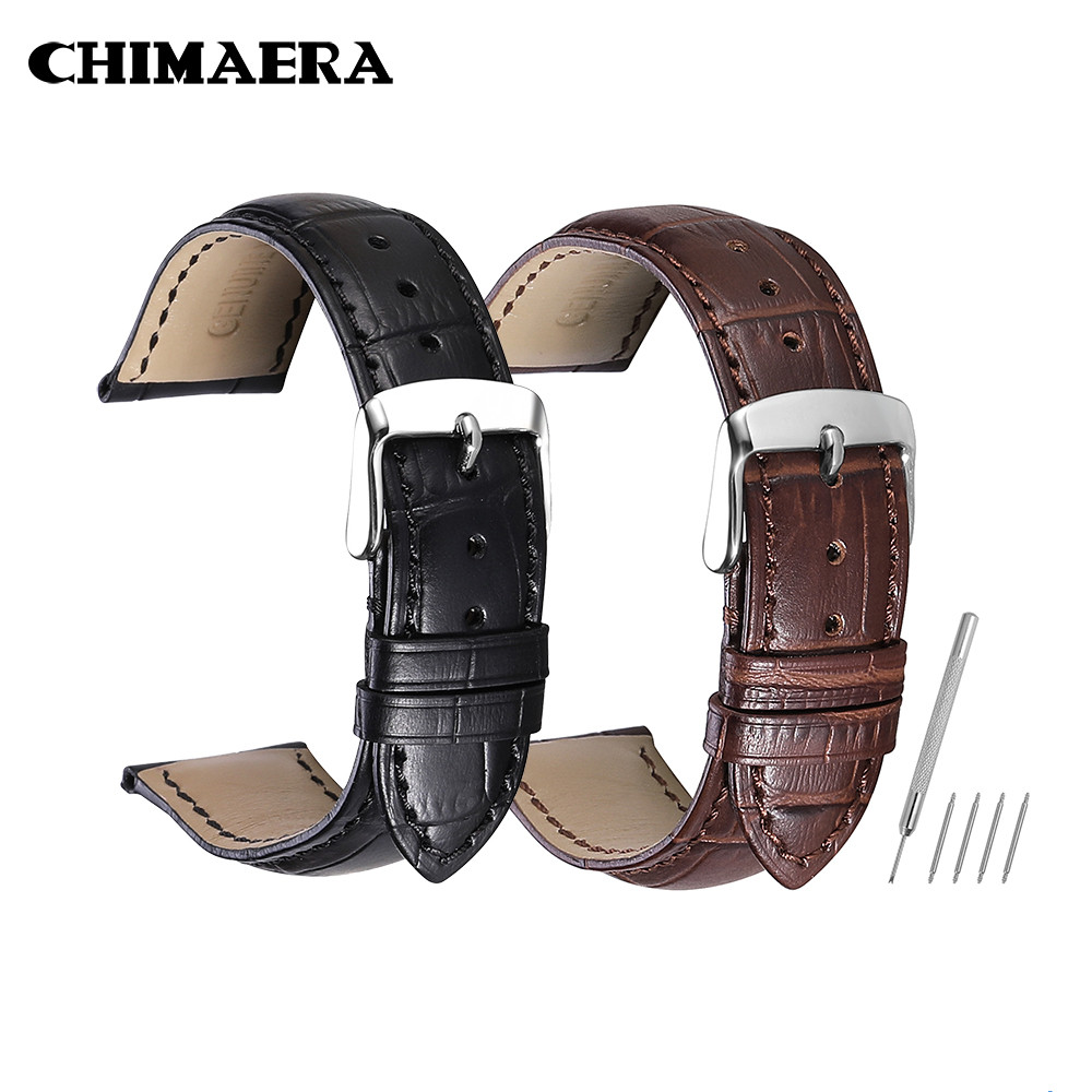 CHIMAERA Watchbands Watch Straps Genuine Cow Leather Strap Watch Band For Hours  14 16 18 19 20 21 22 24 Mm Watch Strap