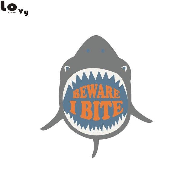 impresso engraçado de boca aberta tubarão adesivos de parede