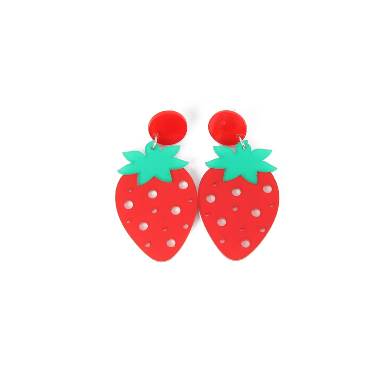 stud strawberry fruit for pineapple enamel earrings girls earring cherry product studs