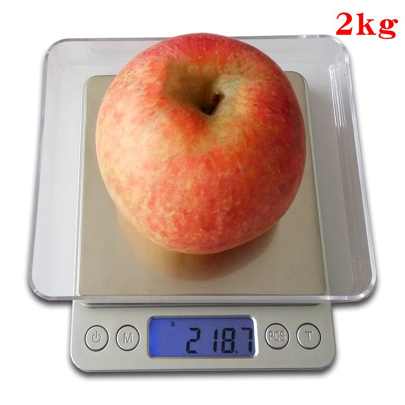 2000g x 0.1g Mini Digital Scale Weighting Kitchen Scale Electronic and LCD Display g/ oz/ ct/ gn Precision with 2 trays 2kgx0.1g 1 5 lcd digital electronic scale 2 x aaa