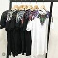 Marcelo Burlon T-shirt Hombres Mujeres 1:1 Condado De Milán Italia Marcelo Burlon Alas de plumas MB Camiseta RODEO REVISTA Tee Camisetas