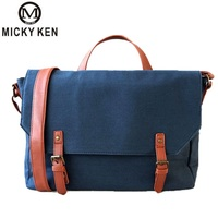 MICKY KEN Brand Men 's canvas shoulder bag 7347# multi functional men' s travel leisure diagonal package Double buckle handbag