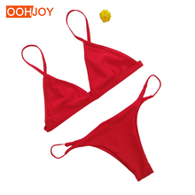2018 New Sexy Micro Bikini Women Swimwear Brazilian Thong Bikini Low Waist Swimsuit Bathing Suit Girls Bikini Set Beach Wear