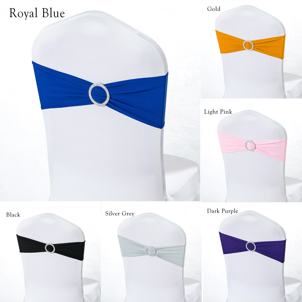 100pcs/lot Spandex Lycra Wedding Chair Cover Sash Bands Wedding Party Birthday Chair Decoration Chair Sash Wedding Party Decor