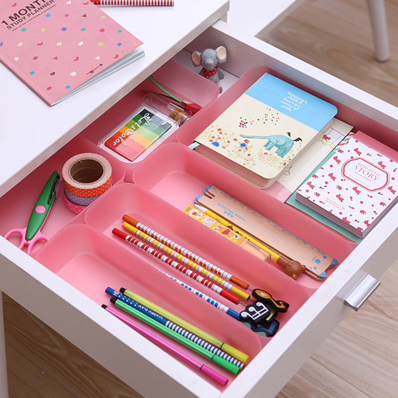 S/M/L Plastic Box Drawer Organizer Japan Style Colorful Drawer Multi-purpose Finishing Sundries Storage Box Orange Blue Pink