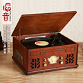 Antique style wooden LP player Gramophone record player LP/CD/USB/Bluetooth/FM/Speaker for audio(input)
