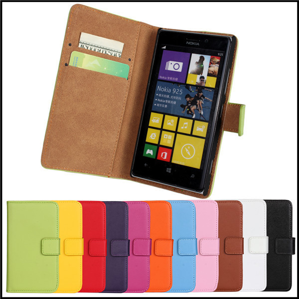 for nokia lumia 925 case cover wallet flip leather phone