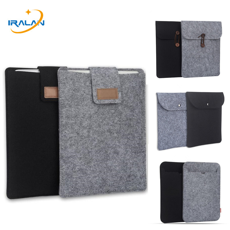 цена на 8 10.5 inch Soft Sleeve Felt Bag for new iPad 2018 air 1 2 5 pro 9.7 Case for iPad mini xiaomi Samsung Huawei 7.9 tablet Cover