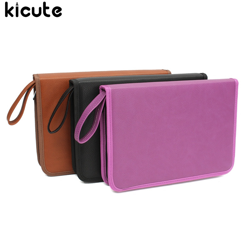 Kicute 72 Slots 3 Layers Pencil Pen Case Box Portable Makeup Bags Art Pens Pencils Stationery Holder Storage Organizer Pouch spark storage bag portable carrying case storage box for spark drone accessories can put remote control battery and other parts