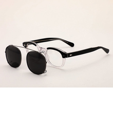 Johnny Depp Polarized Sunglasses Clip On Glasses Men Women Patchwork Acetate Optical Frame Brand design Sq313-2