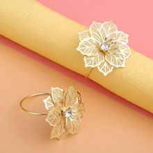 6Pcs Alloy West Dinner Towel Napkin Ring Table Decoration Serviette Rings Holder Party Wedding