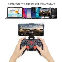 Bluetooth T3 Беспроводной игровой контроллер Джойстик Terios BT3.0 джойстик для мобильного телефона для планшета телевизора коробка держатель геймпа...