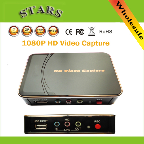 1080P HD Ezcap Video game HDMI Capture Support HDMI/YPbPr Recorder Box USB Disk For Xbox 360/ PS3 ,Dropshipping Free Shipping