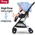 Vinng Ultra Light Traveling Baby Stroller 4.9 Kg Single Hand Folding Portable Carrying On Plane Infant Carriage 0-36 Months Pram