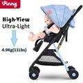 Vinng Ultra Luz Viajar Carrinho De Bebê 4.9Kg Mão Única Dobrável Portátil Carregando No Avião Infantil Transporte 0-36 meses de Carrinho De Bebê