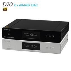 NEW TOPPING D70 AK4497 *2 AK4118 USB DAC XMOS AUDIO DSD512 32bit 768khz Desktop Decoder Support for IIS input