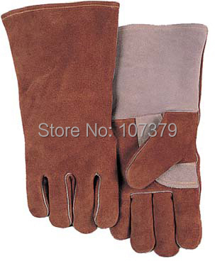 Leather Work Glove Deluxe Leather TIG MIG Gloves Cow Split Leather Welding Safety Glove leather safety glove deluxe tig mig leather welding glove comfoflex leather driver work glove