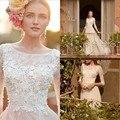 Модест богемия свадебное платье летом три четверти кружева свадебное платье страна тюль пляж платье невесты платья на заказ