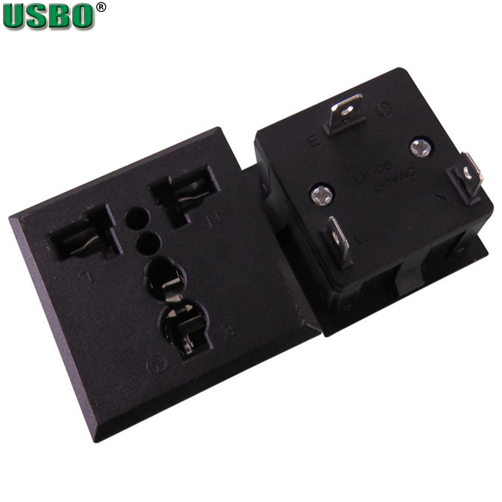 Wholesale ce 250v 13a HK UK US EU india swiss 3 sprong AC PDU UPS power outlet 3p electrical Panel Receptacle AC socket Type G