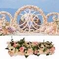2 teile/los original design hochzeit blume wand künstliche rose hortensien pfingstrose mix blumen hintergrund hochzeit party hause decora