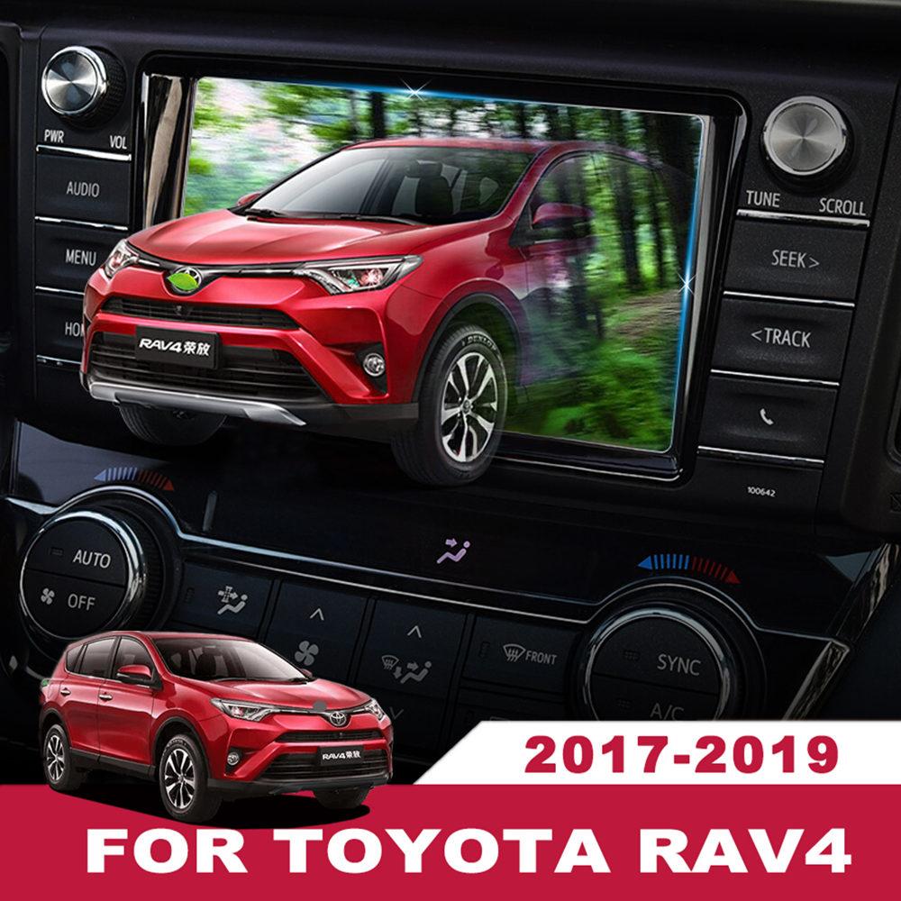 Otomobiller ve Motosikletler'ten Araba Çıkartmaları'de Toyota için RAV4 2017 2018 2019 İç GPS navigasyon ekran çelik malzeme koruyucu Film LCD ekran filmi aksesuarları 7/8 inç title=