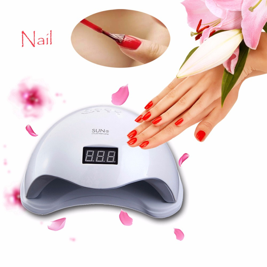 HAICAR White UV Lamp Led Nail Light Fingernail Toenail Gel Curing Manicure Machine 48W UK Plug Lamp For Gel Nail Polish professional 48w led uv lamp for curing nail gel polish nail lamp for nail art tools with eu au us uk plug